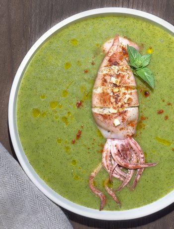 totani con zucchine e nocciole