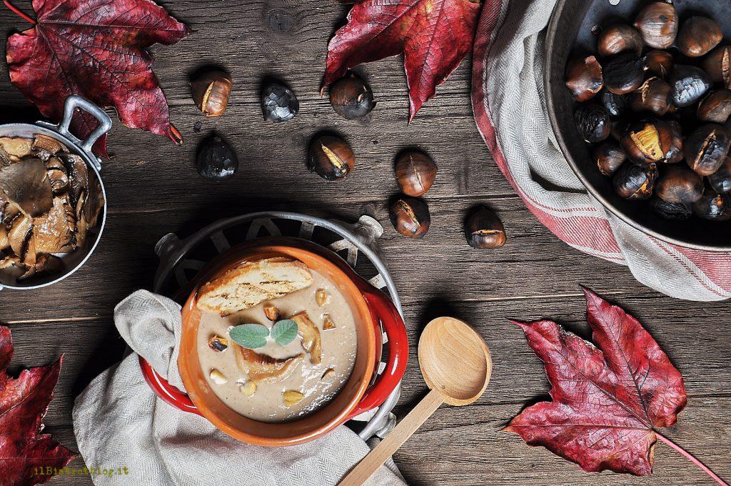 Crema di castagne e funghi
